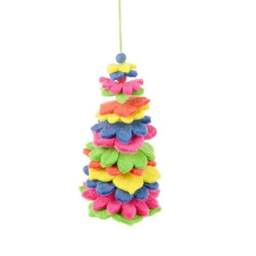 Felt Christmas Tree - Multicoloured