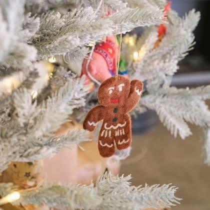 Felt Gingerbread Man Decoration
