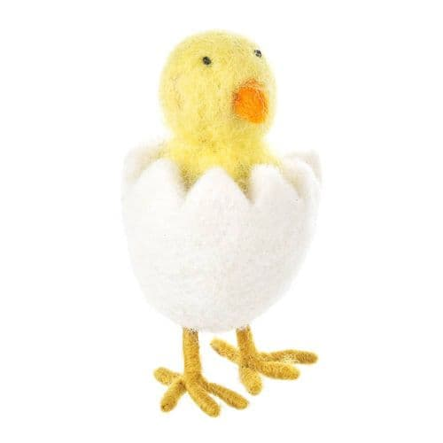 Felted Wool Easter Chick Decoration