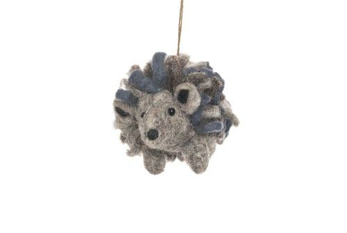 Felted Wool Hedgehog Decoration