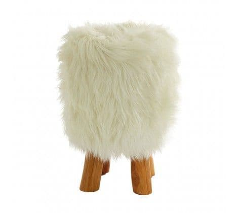 Fluffy Faux Fur Stool