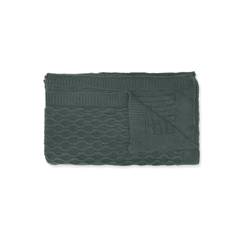 Forest Green Cotton Throw
