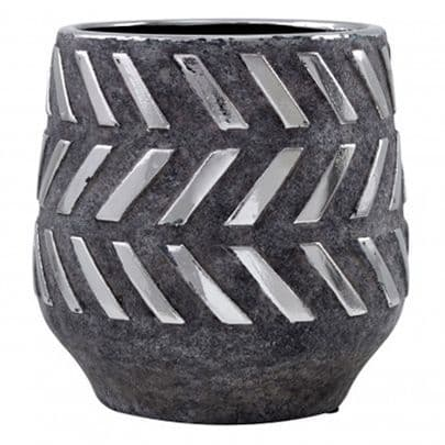 Grey Ceramic And Metal Pot