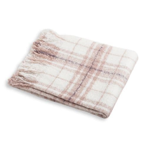 Purple Checked Throw | Home Accessories