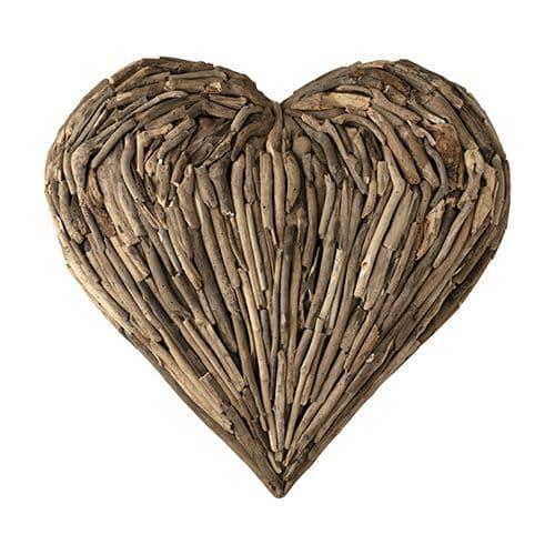Large Driftwood Heart Wall Art - 75cm