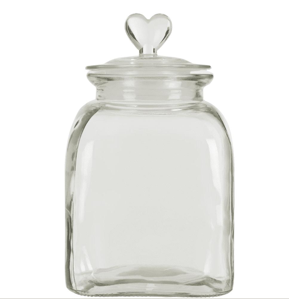 Loves Me Glass Storage Jar - Medium