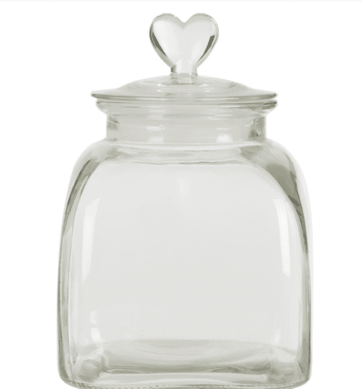 Loves Me Glass Storage Jar - Small