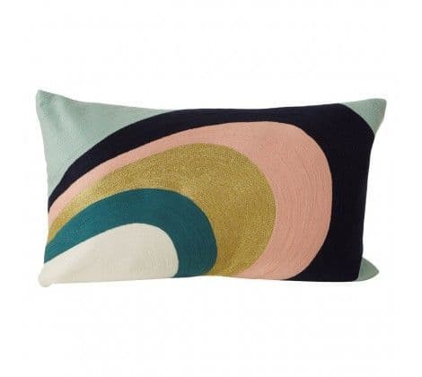 Multicoloured Swirl Cushion