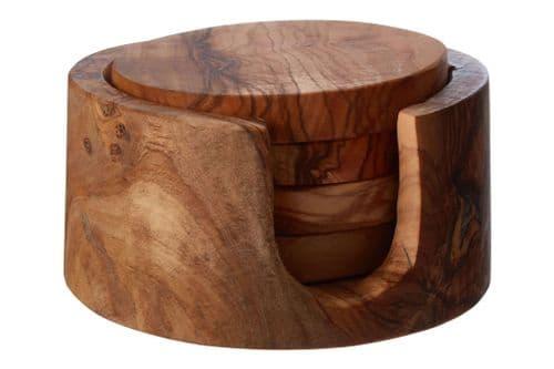 Olive Wood Coasters - Round