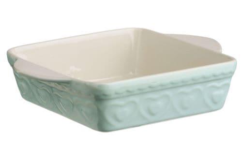 Pastel Green Stoneware Baking Dish