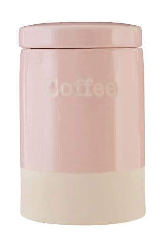 Pastel Pink Coffee Canister