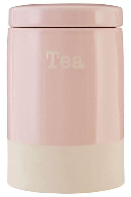 Pastel Pink Tea Canister   25% OFF SALE