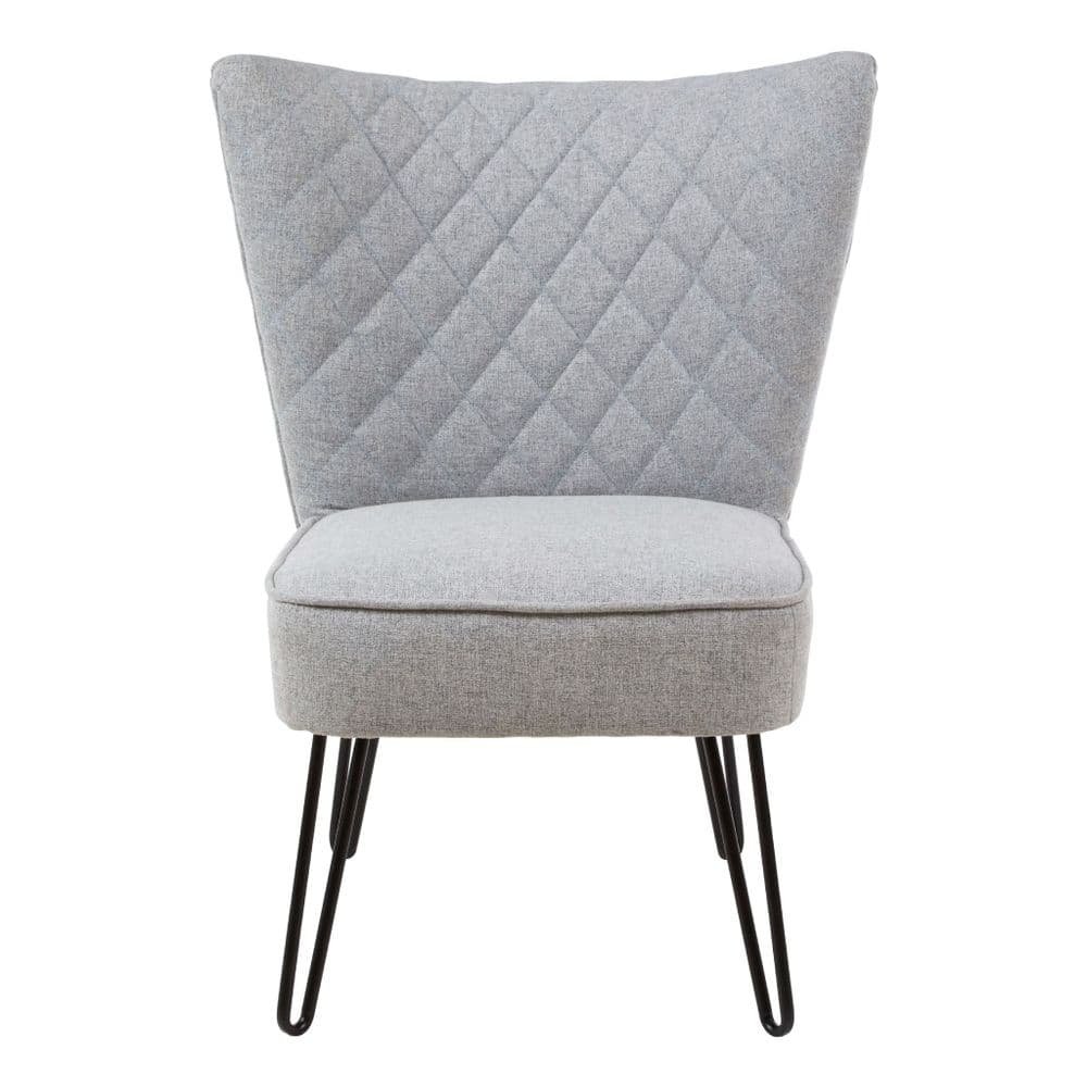 25% OFF | Quilted Hairpin Leg Chair