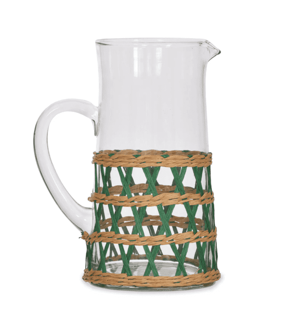 Rattan And Glass Jug | Home Accessories