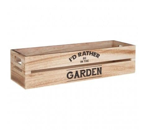 Rustic Wooden Herb Planter