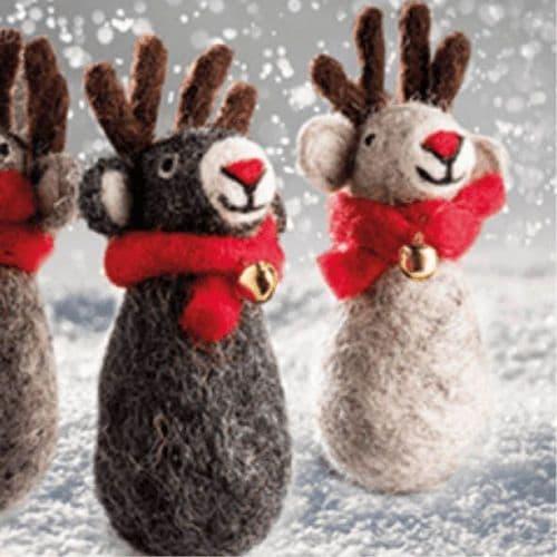 Set of Reindeer Decorations