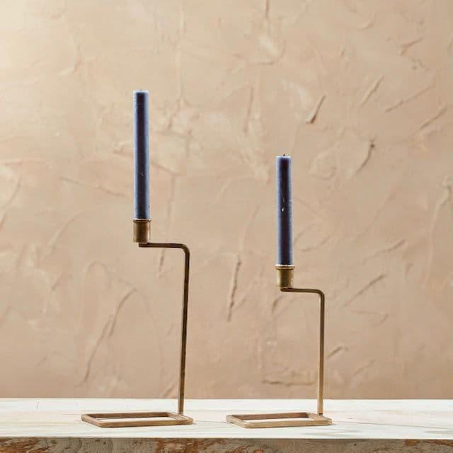 Small Antique Brass Candlestick