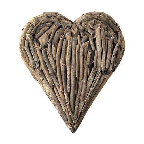 Small Driftwood Heart Wall Art - 50cm