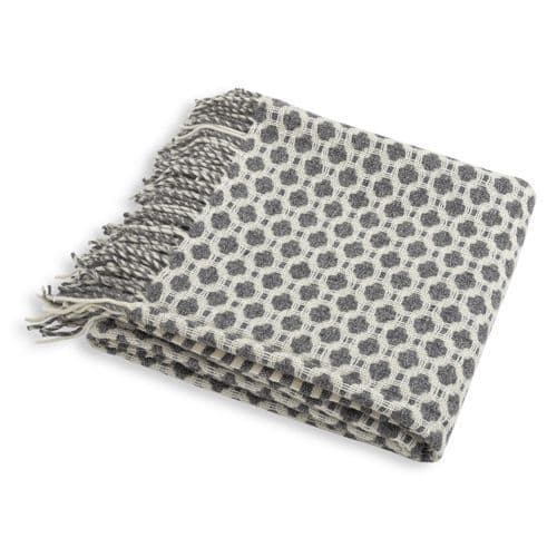 Soft Grey Wool Throw