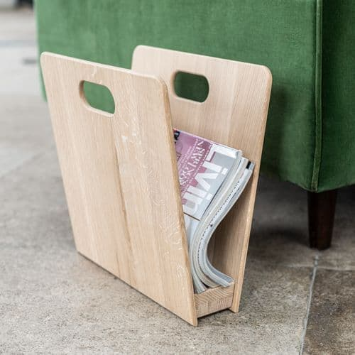 Solid Oak Magazine Rack