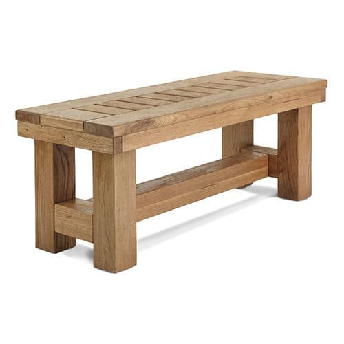 Stannington Solid Oak Bench | Handcrafted in the UK