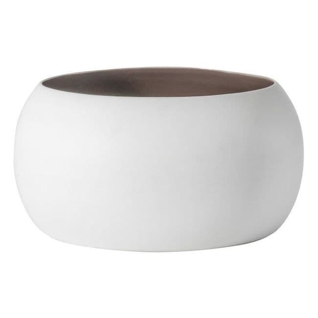 Two Tone Bowl - Cream / Aubergine | Home Accessories