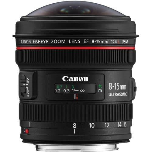 Canon EF 8-15mm f4L USM Fisheye Zoom Lens