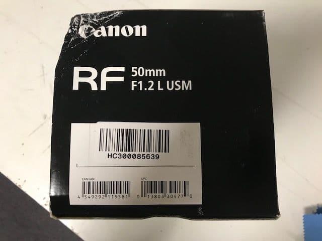 Canon RF 50mm f/1.2L USM - Bad Box