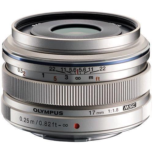 Olympus M.ZUIKO DIGITAL ED 17mm f1.8 Silver