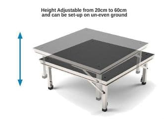 Featherlite Portable Staging Stage Deck  40cm - 60cm
