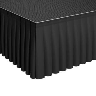 GT Stage Deck Polyester Skirt 20 x 205cm Pleated | Staging | Lighthouse Audiovisual UK