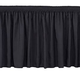 Intellistage Portable Staging ISESK2X20 2 Meter Wide 20 cm Long Black Skirt   Portable Staging   Stage Skirt   intellistage   Lighthouse Audiovisual UK