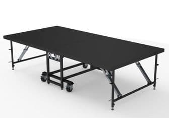Staging 101 Mobile Folding Stage Platforms 8' x 16' - 4 Panels | Portable Staging | Lighthouse Audiovisual UK