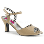Sandalo Con Tacco Medio | Pink Label Shoes | 4 Colori | Jenna-09+
