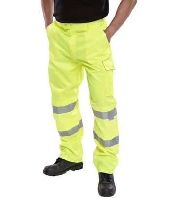 B Seen Hi Vis Polycotton Combat Trousers PCTEN