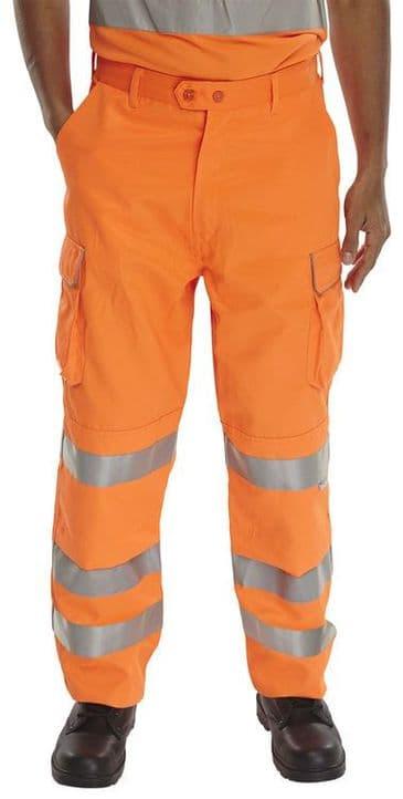 B Seen Hi Vis Rail Spec Combat Trousers RST