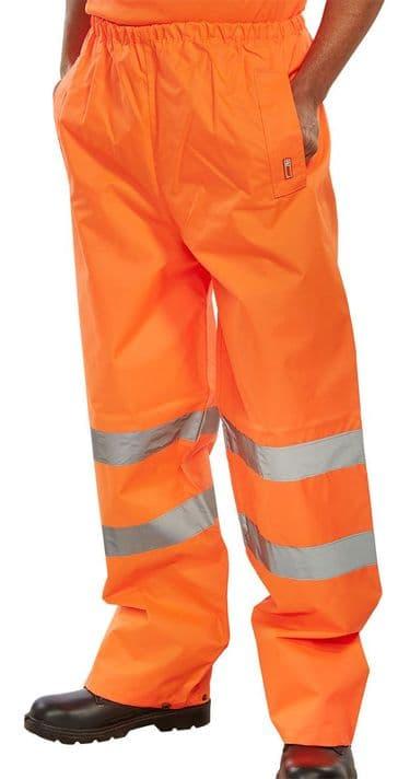 B Seen Waterproof Hi Vis Traffic Over Trousers
