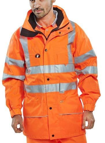 Be Seen Waterproof Hi Vis Carnoustie Jacket