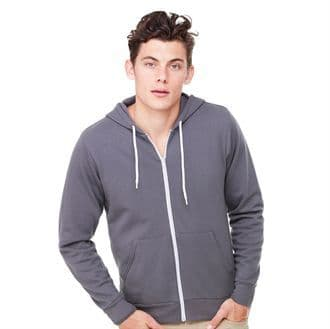 Bella & Canvas Unisex Poly/Cotton Fleece Full Zip Hoodie BE106