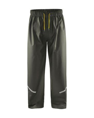 Blaklader 1301 Waterproof Rain Trousers (Army Green)
