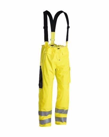 Blaklader 1303 Fire Retardant Rain Trousers (Yellow)