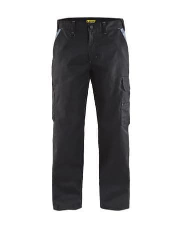 Blaklader 1404 Industry Trousers 65% Polyester, 35% Cotton Twill (Black/Grey)