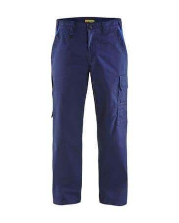 Blaklader 1404 Industry Trousers 65% Polyester, 35% Cotton Twill (Navy Blue/Cornflower Blue)