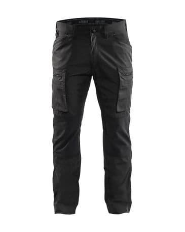 Blaklader 1459 Stretch Service Trousers - 65% Polyester/35% Cotton (Dark Grey/Black)