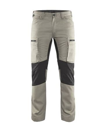 Blaklader 1459 Stretch Service Trousers - 65% Polyester/35% Cotton (Stone/Black)