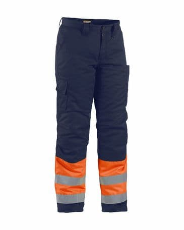 Blaklader 1862 Winter Trouser High Vis (Orange/Navy Blue)