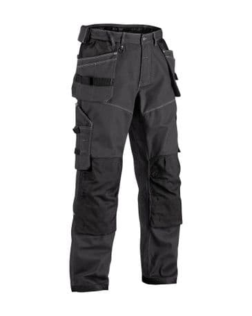 Blaklader 1961 X1900 Craftsman Trousers NYCO (Dark Grey/Black)