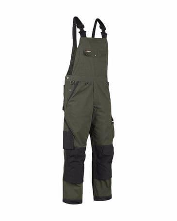 Blaklader 2654 Garden Bib Overalls (Army Green/Black)