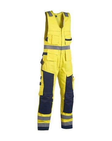 Blaklader 2678 Multinorm Sleeveless Coverall (Yellow/Navy Blue)