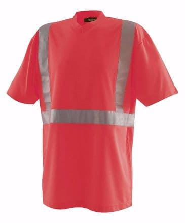 Blaklader 3313 High Visibility T-Shirt (Red)